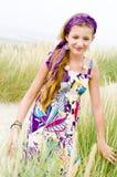 Muchacha modelo en la playa Fotos de archivo