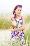 Muchacha modelo en la playa Fotos de archivo libres de regalías