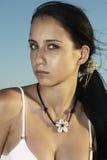 Muchacha modelo joven en traje de baño Imagenes de archivo