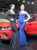 Muchacha-modelos del salón del automóvil internacional 2018 de Moscú fotografía de archivo libre de regalías