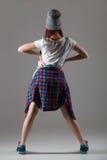 Muchacha moderna linda del bailarín Fotos de archivo