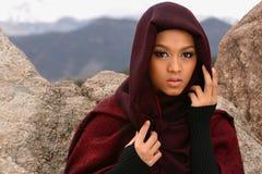 Muchacha musulmán Fotos de archivo libres de regalías