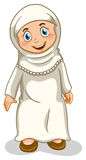 Muchacha musulmán ilustración del vector