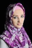 Muchacha musulmán hermosa de la manera imágenes de archivo libres de regalías