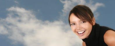 Muchacha muy feliz del Latino afuera Imagen de archivo