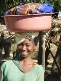 Muchacha nativa malgache fotografía de archivo libre de regalías