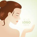 Muchacha natural del balneario de la belleza stock de ilustración