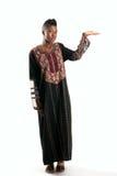 Muchacha negra con la mano outstretched Fotos de archivo
