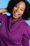Muchacha negra de risa fotos de archivo