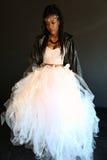 Muchacha negra en la falda de Tulle Imagen de archivo