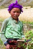 Muchacha nepalesa en Dolpo, Nepal Imagenes de archivo