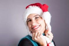 Muchacha Papá Noel Imagen de archivo