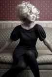 Muchacha pasada de moda Imagenes de archivo
