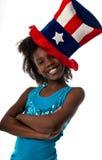 Muchacha patriótica fotos de archivo
