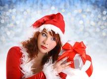 Muchacha perfecta de la Navidad Fotos de archivo libres de regalías