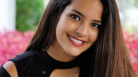 Muchacha peruana sonriente Foto de archivo