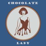 Muchacha pintada chocolate ilustración del vector