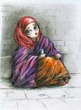 Muchacha pobre. Fotografía de archivo