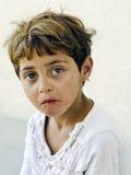 Muchacha pobre hermosa de Rumania Fotos de archivo libres de regalías