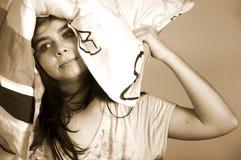 Muchacha por mañana Fotografía de archivo libre de regalías