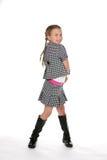 Muchacha pre adolescente linda en blanco y negro Foto de archivo libre de regalías
