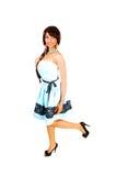 Muchacha preciosa en vestido azul. Fotografía de archivo libre de regalías