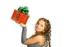 Muchacha presente imagen de archivo libre de regalías