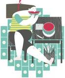 Muchacha que come la sandía Foto de archivo libre de regalías