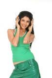 muchacha que disfruta de música Imagen de archivo libre de regalías