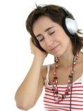 Muchacha que disfruta de música Fotos de archivo libres de regalías