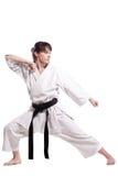 Muchacha que ejercita karate Imagen de archivo libre de regalías