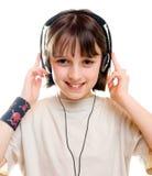 Muchacha que escucha la música 1 Fotos de archivo