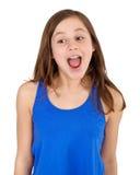 Muchacha que grita Imagen de archivo libre de regalías