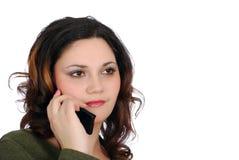 Muchacha que habla en el teléfono Imagenes de archivo