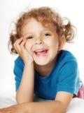 Muchacha que hace caras Foto de archivo libre de regalías