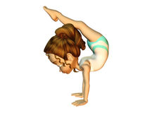 Muchacha que hace la gimnasia Libre Illustration
