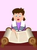 Muchacha que lee el Torah Fotos de archivo libres de regalías
