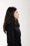 Muchacha que lleva la camiseta negra Imagen de archivo libre de regalías