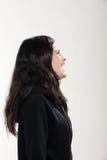 Muchacha que lleva la camiseta negra Foto de archivo libre de regalías