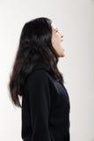 Muchacha que lleva la camiseta negra Fotos de archivo