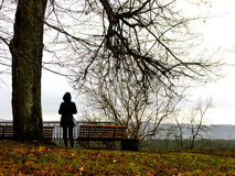Muchacha que mira al horizonte Fotografía de archivo libre de regalías