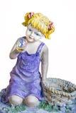 Muchacha que mira en la bola de cristal Imagenes de archivo