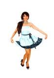 Muchacha que muestra su vestido. Fotos de archivo libres de regalías