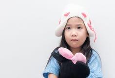 Muchacha que siente triste solo, llorando o solo Imagen de archivo libre de regalías
