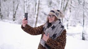 Muchacha que tiene Videochat almacen de metraje de vídeo