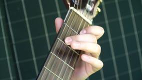 Muchacha que toca la guitarra Fotografía de archivo libre de regalías