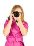 Muchacha que toma la foto Foto de archivo