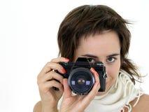 Muchacha que toma una foto Imágenes de archivo libres de regalías