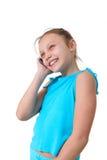 Muchacha que usa el teléfono móvil Fotos de archivo