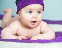 Muchacha recién nacida del primer Fotografía de archivo